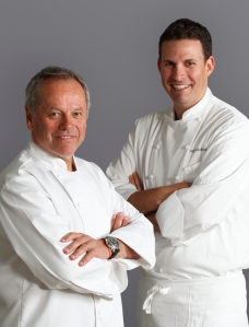 Wolfgang Puck and David McIntyre, Executive Chef- CUT at 45 Park Lane